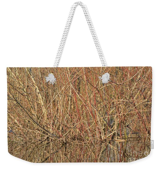 Pond Side Autumn Weekender Tote Bag