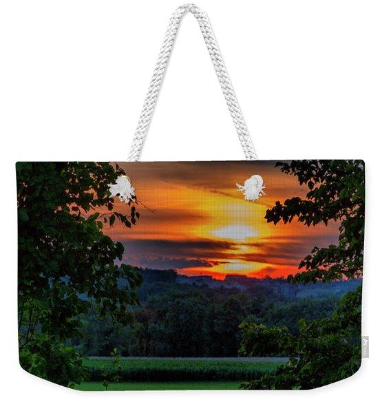 Pond Sunset  Weekender Tote Bag