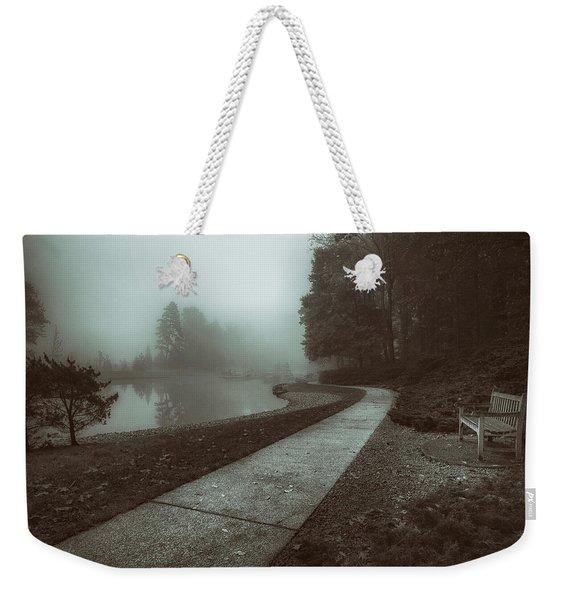Pond Walk In Black And White Weekender Tote Bag