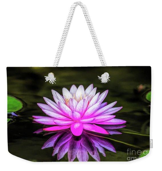 Pond Water Lily Weekender Tote Bag