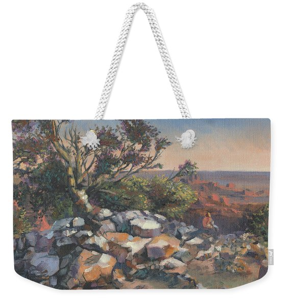 Pondering By The Canyon Weekender Tote Bag
