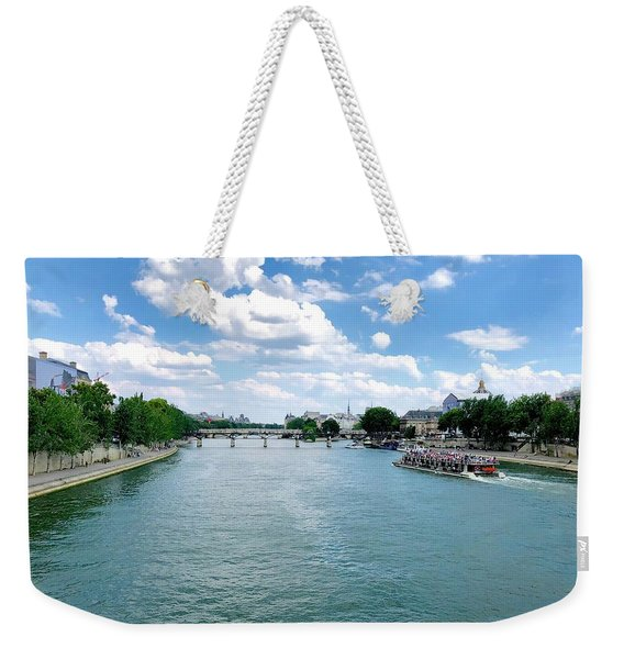 River Seine At Pont Du Carrousel Weekender Tote Bag