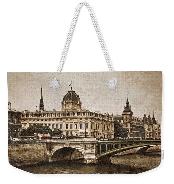 Paris, France - Pont Notre Dame Oldstyle Weekender Tote Bag