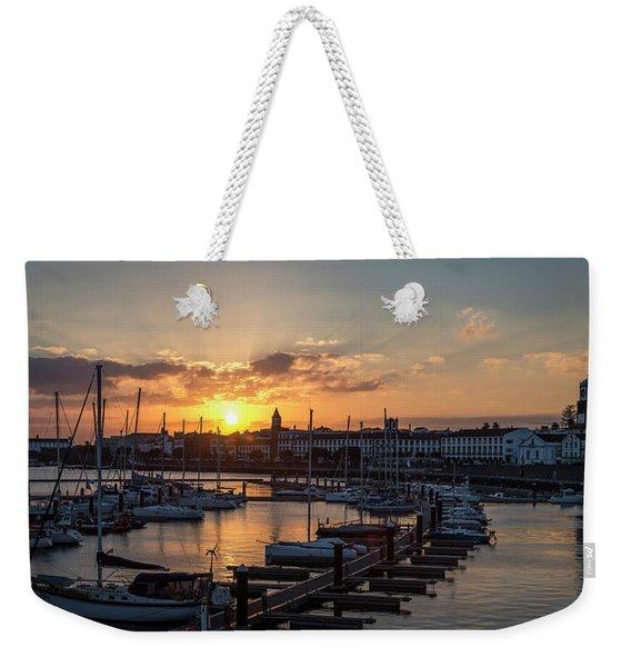 Ponta Delgada Sunset Weekender Tote Bag