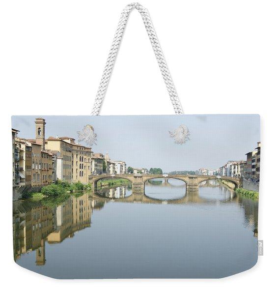 Ponte Santa Trinita On River Arno Weekender Tote Bag
