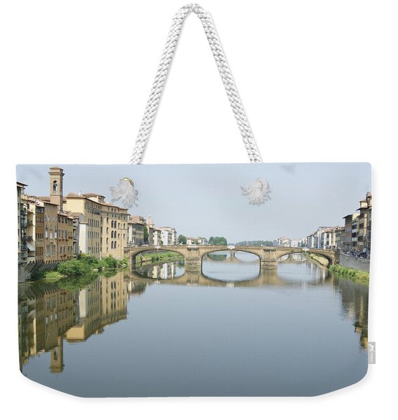 Ponte Santa Trinita On River Arno Weekender Tote Bag