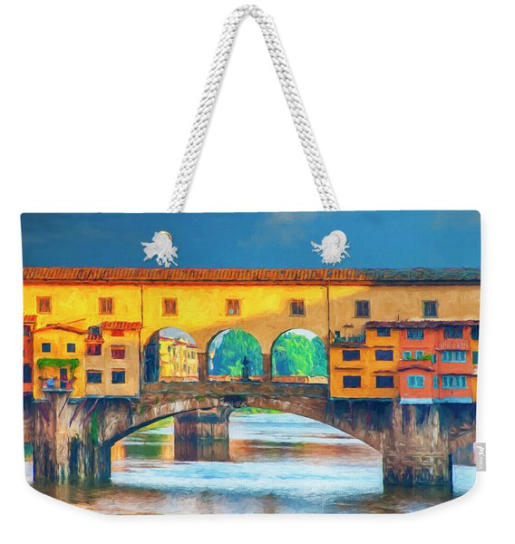 Ponte Vecchio Impression Weekender Tote Bag