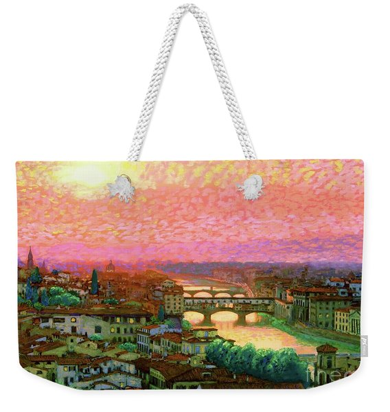 Ponte Vecchio Sunset Florence Weekender Tote Bag