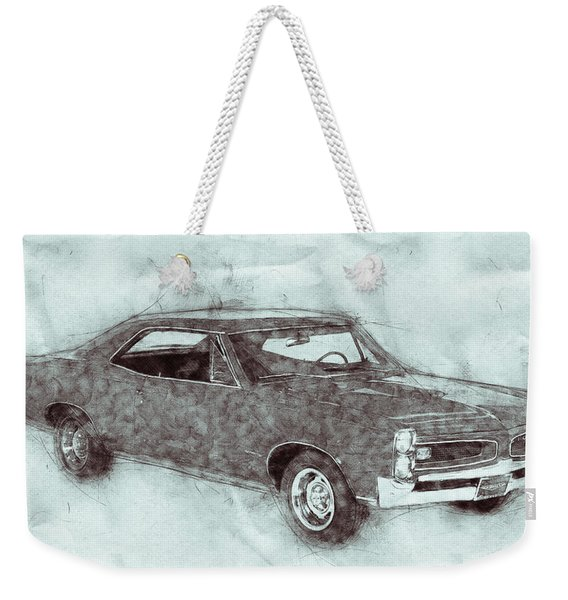 Pontiac Gto 1 - 1967 - Automotive Art - Car Posters Weekender Tote Bag