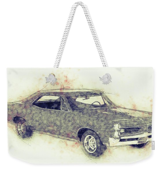 Pontiac Gto - 1967 - Automotive Art - Car Posters Weekender Tote Bag
