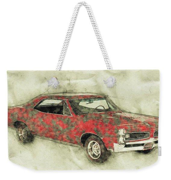 Pontiac Gto 2 - 1967 - Automotive Art - Car Posters Weekender Tote Bag