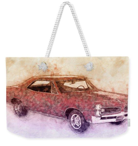 Pontiac Gto 3 - 1967 - Automotive Art - Car Posters Weekender Tote Bag