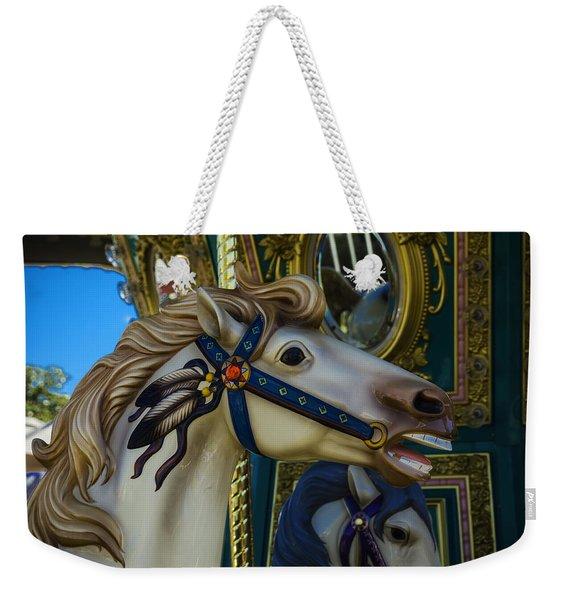 Pony Carrsouel Portrait Weekender Tote Bag