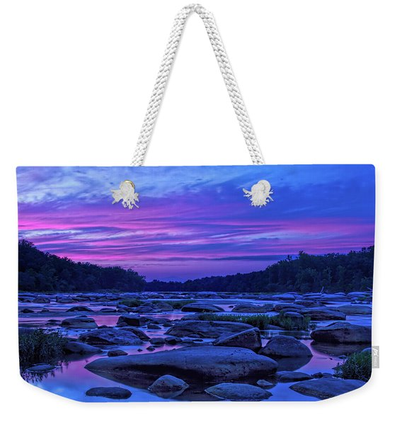 Weekender Tote Bag featuring the photograph Pony Pasture Sunset by Jemmy Archer