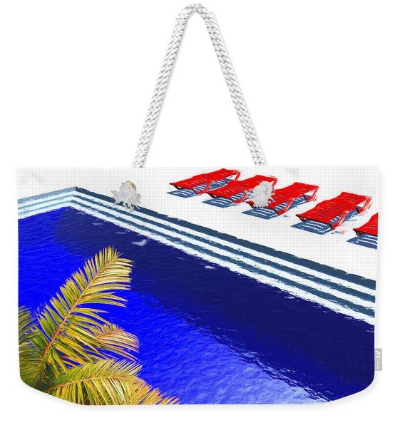 Pool Deck Weekender Tote Bag