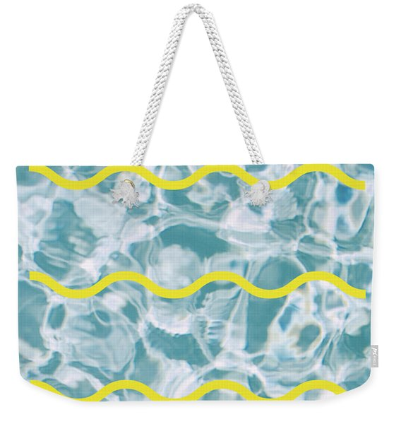 Pool Lines Weekender Tote Bag