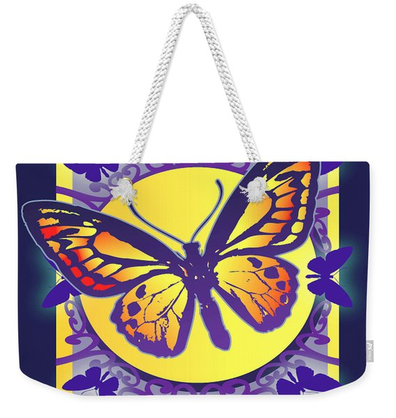 Pop Art Butterfly Weekender Tote Bag