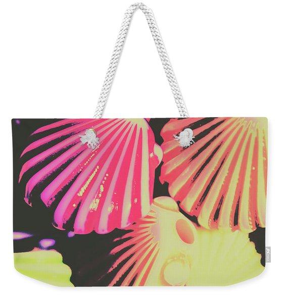 Pop Art From Fluorescent Beach Weekender Tote Bag