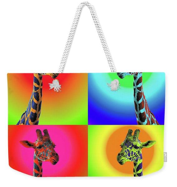 Pop Art Giraffe Weekender Tote Bag