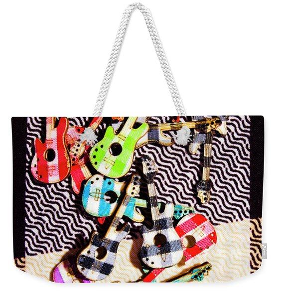 Pop Art Music Weekender Tote Bag