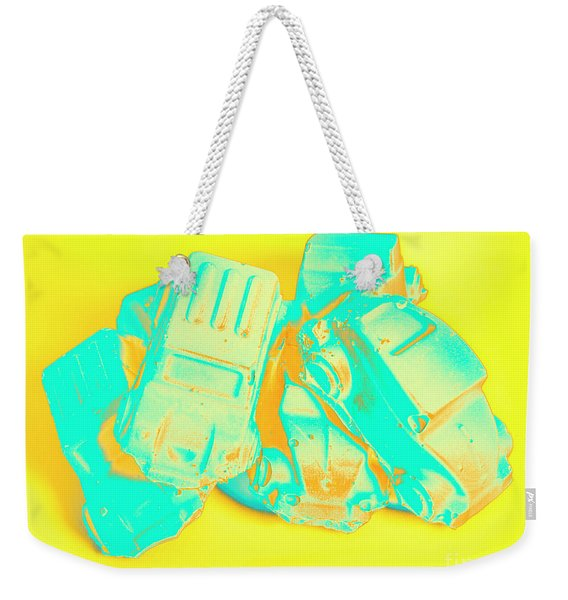 Pop Art Pileup Weekender Tote Bag
