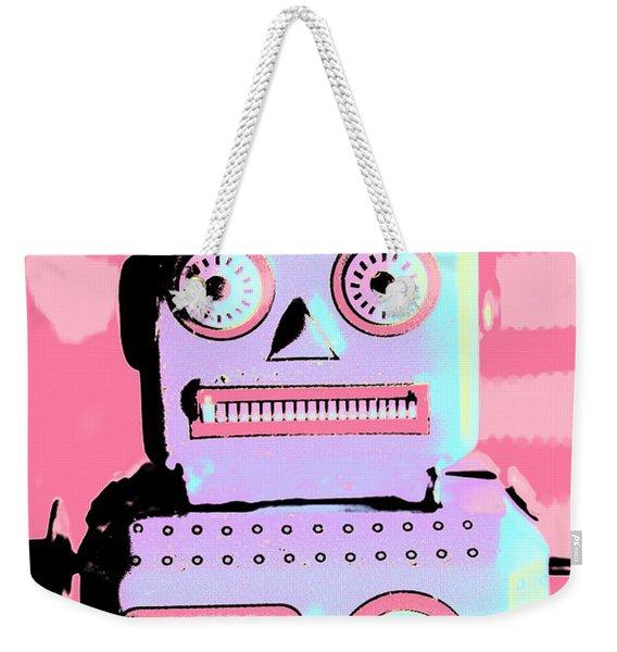 Pop Art Poster Robot Weekender Tote Bag