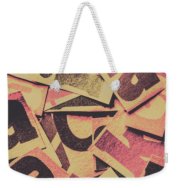 Pop Art Press Weekender Tote Bag
