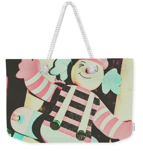 Pop Up Clown Art Weekender Tote Bag