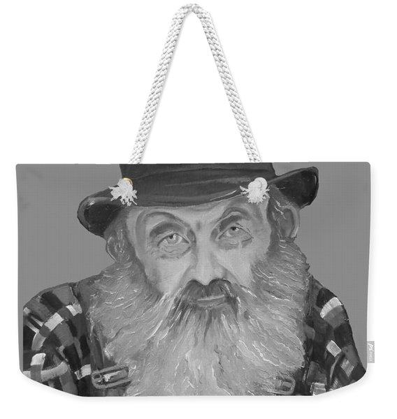 Popcorn Sutton Moonshiner Bust - T-shirt Transparent B And  W Weekender Tote Bag