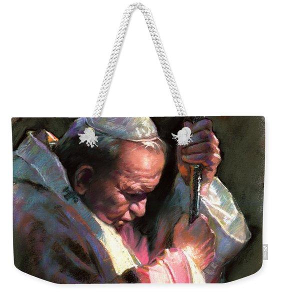 Pope John Paul II Weekender Tote Bag