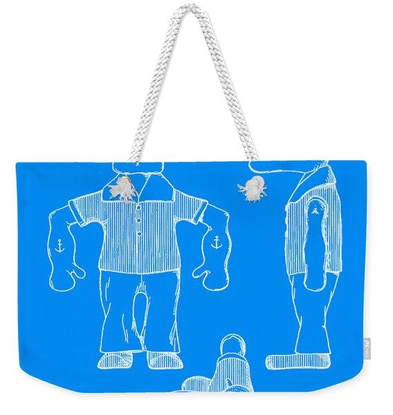 Popeye Doll Patent 1932 In Blue Weekender Tote Bag