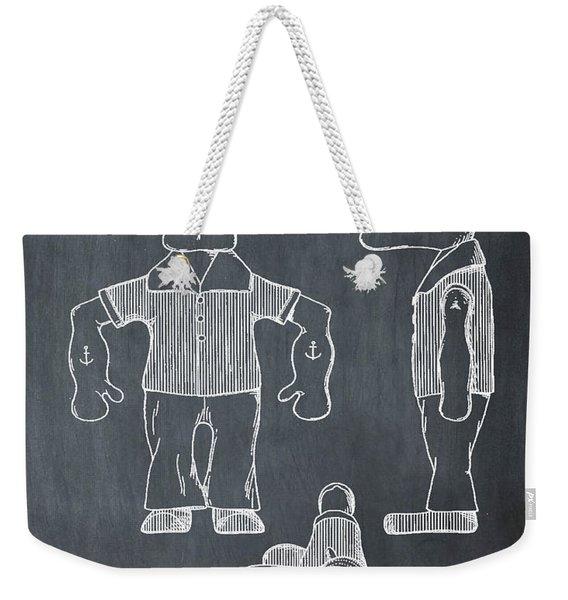 Popeye Doll Patent 1932 In Chalk Weekender Tote Bag