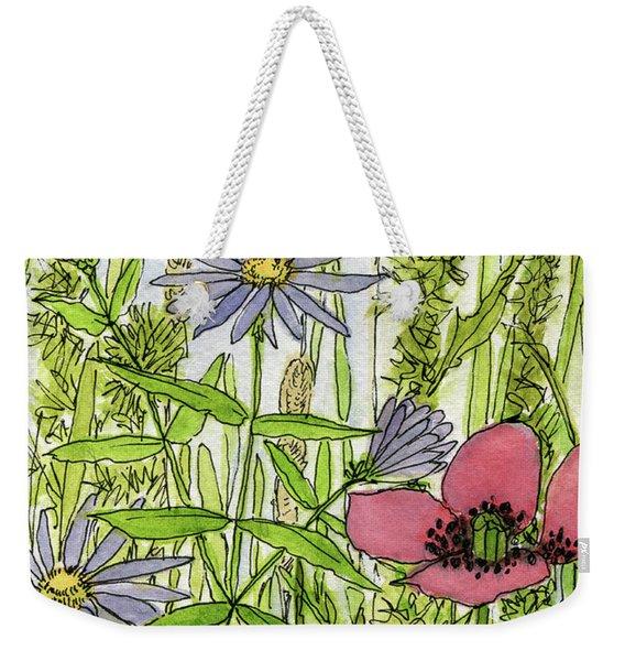 Poppies And Wildflowers Weekender Tote Bag