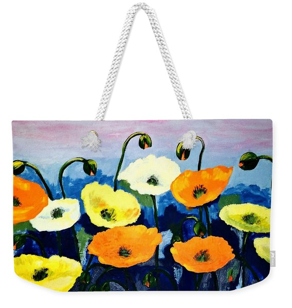 Poppies In Colour Weekender Tote Bag