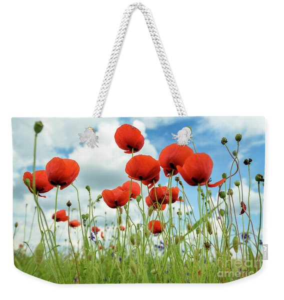 Poppies In Field Weekender Tote Bag