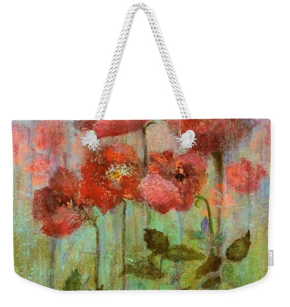 Poppies In Pastel Watercolour Weekender Tote Bag