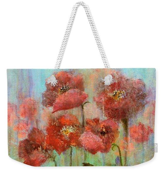 Poppies In Pastel Watercolour Weekender Tote Bag
