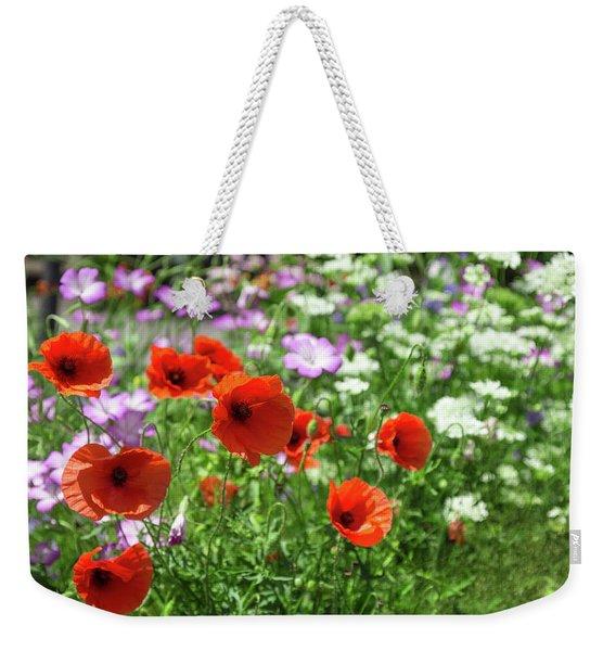 Poppies In Summer Garden Weekender Tote Bag