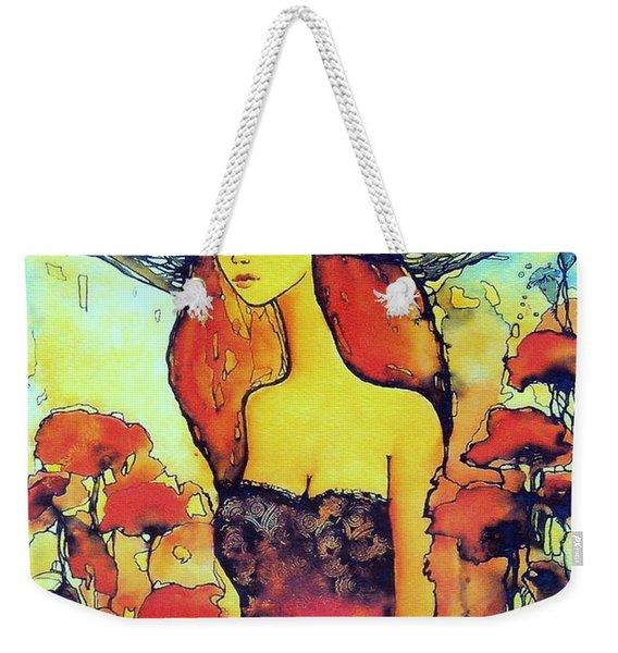 Poppies Lady Weekender Tote Bag