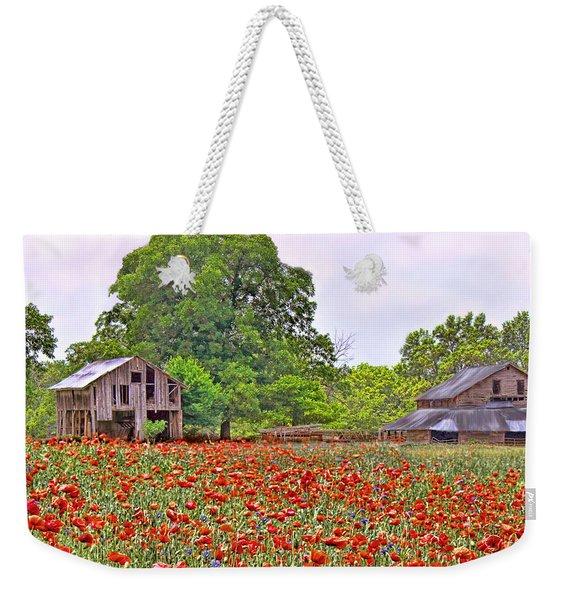 Poppies On The Farm Weekender Tote Bag