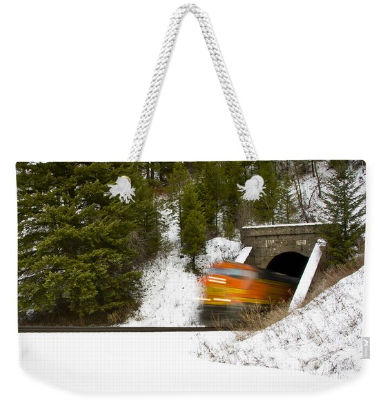 Popping Out Of Tunnel 1012 Weekender Tote Bag