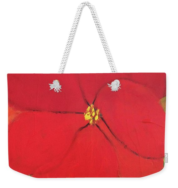 Weekender Tote Bag featuring the painting Poppy 2 by Kim Nelson