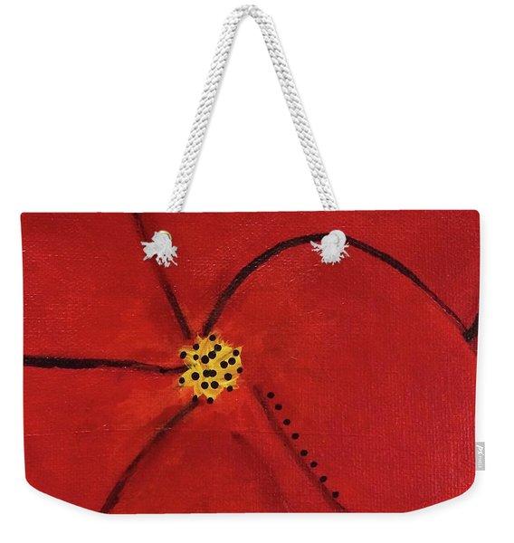 Poppy Dots Weekender Tote Bag