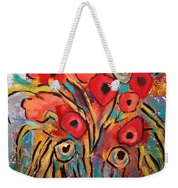 Poppy Fest Weekender Tote Bag