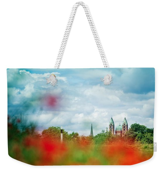 Poppy Field And Speyer Cathedral Weekender Tote Bag