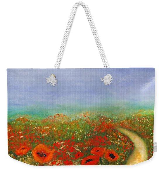 Poppy Field Impressions Weekender Tote Bag
