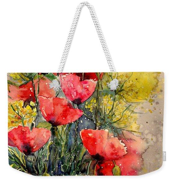 Poppy Impression Weekender Tote Bag