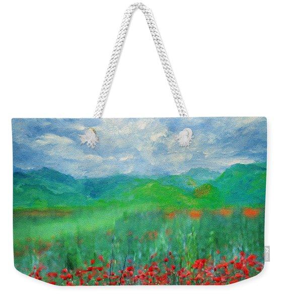 Poppy Meadows Weekender Tote Bag