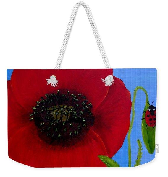 Poppy Power Weekender Tote Bag