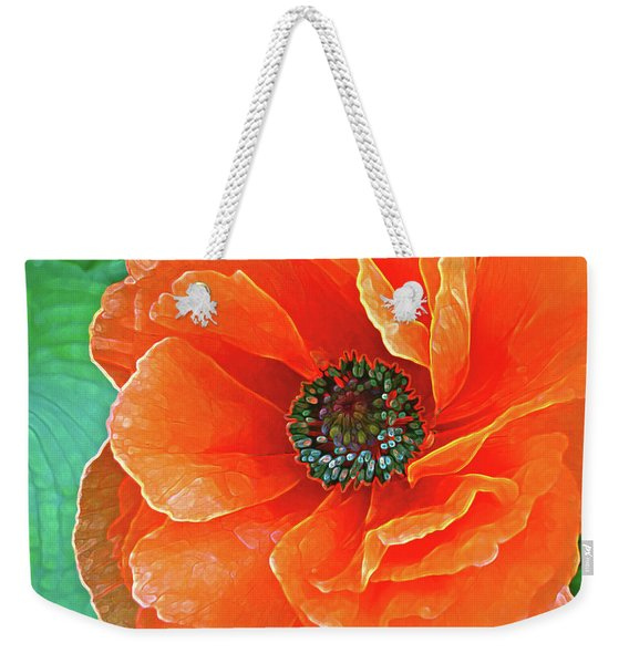 Poppy Red Weekender Tote Bag